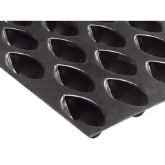 Folie cu Forme de Mini-Quenelles FLEXIPAN®, GN 1/1 (53 x 32,5cm), 43 Amprente de 6,7 x 3,6 x 2,7 cm - Demarle, Franta