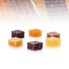 Jeleuri de Fructe, Pate de Fruits, 6 versiuni, 192 buc., 1,824Kg - VALRHONA