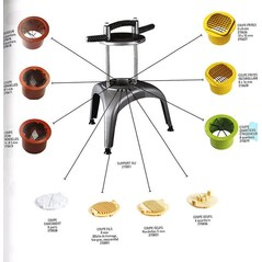 Kit de Portionat Tomate si Citrice in 6 Segmente, pentru Baza Multi-Taiere, Prep Chef - Matfer2