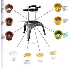 Kit de Portionat Tomate si Citrice in 8 Segmente, pentru Baza Multi-Taiere, Prep Chef - Matfer2