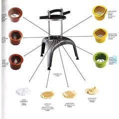Kit de Taiat Semi-Rondele, pentru Baza Multi-Taiere, Prep Chef - Matfer2