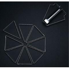 Cadru Triunghiular pentru Tarte, Mozaïk, 12 x 9,8x h 2cm, Set 8buc. - Matfer3