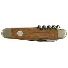 Briceag cu Furculita, Maner din Lemn de Doaga din Stejar, Barrel Oak, 7cm - GÜDE