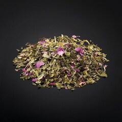 Ceai Verde cu Petale de Trandafir si Sofran, Iran, 25g - Le Comptoir des Poivres