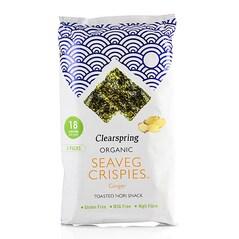 Chips-uri de Alge Nori cu Ghimbir, Seaveg Crispies, BIO, 3 x 4g, 12g - Clearspring