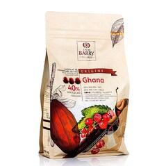 Ciocolata de Patiserie (Couverture) cu Lapte, Ghana Origine, pastile, 40% Cacao, 1Kg - CACAO BARRY
