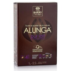 Ciocolata de Patiserie (Couverture) cu Lapte, Purity Nature Alunga, pastile, 41% Cacao, 1Kg - CACAO BARRY