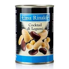 Cocktail de Leguminoase (Fasole Boabe Alba, Rosie, Cannellini, Naut), Conserva, 400g - Casa Rinaldi