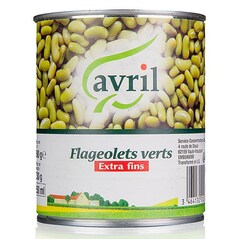 Fasole Boabe Flageolets, Conserva, 800g - Avril