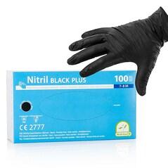 Manusi de Unica Folosinta, din Nitril, Negre, Nepudrate, Dimensiunea M, set 100 buc