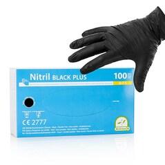 Manusi de Unica Folosinta, din Nitril, Negre, Nepudrate, Dimensiunea S, set 100 buc