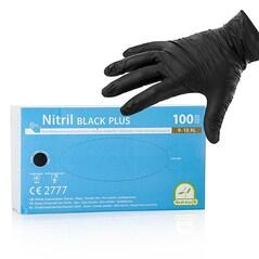 Manusi de Unica Folosinta, din Nitril, Negre, Nepudrate, Dimensiunea XL, set 100 buc - Franz Mensch GmbH