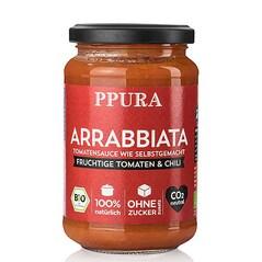 Sos Arrabbiata, cu Tomate, Usturoi si Chili, BIO, 340g - PPURA