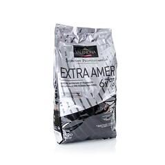 Ciocolata Couverture Neagra, Extra Amer, callets, 67% Cacao, 3 Kg - VALRHONA