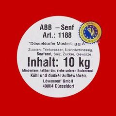 Mustar Düsseldorfer ABB Mediu-Iute g.g.A., Original, 9,39litri - A.B.Bergrath, Germania