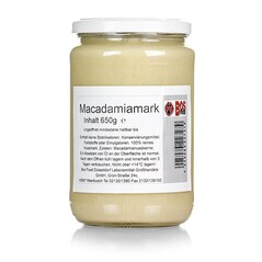 Pasta de Nuci Macadamia 100%, 650 g - Bos Food