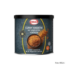 Curry Harathi cu mirodenii prajite, foarte picant, 300g - Hela