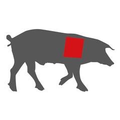 Spata de Porc LiVar cu os - Boston Butt, Congelata, cca. 7,5Kg