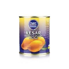 Pulpa de Mango Kesar (92% mango), Indulcita, 850g - Heera, India