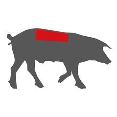 Muschi de Porc Duroc, BIO, Congelat, cca. 1,95Kg - Portugalia