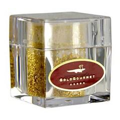 Fulgi de Aur comestibil in Shaker Cub, 23 Kt, 100 mg - GoldGourmet, Germania