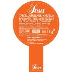 Colorant Alimentar Portocaliu Stralucitor, Pudra, 50 g - SOSA