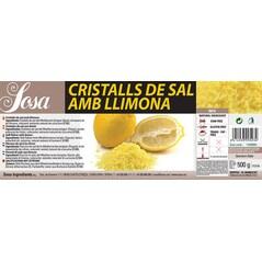 Sare cu Aroma de Lamaie 0,5 Kg - SOSA eticheta
