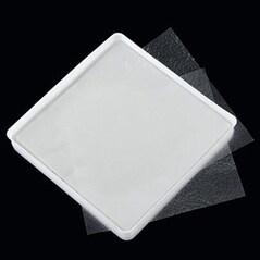 Obulato - Foite din Amidon de Cartofi, Transparente, Patrate, 9 x 9 cm, 200 buc/pachet