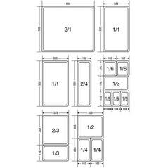 Tava Inox, GN 1/6, h: 15 cm - Matfer