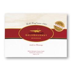 Foite de Aur Comestibil, 23 Kt, 80 x 80 mm, 25 Foite - GoldGourmet, Germania