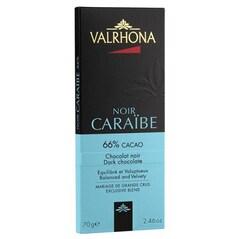 Ciocolata Neagra, 66% Cacao, Insulele Caraibe, 70 g - Caraibe, Les Grand Cru - VALRHONA