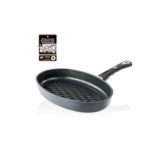 Tigaie Grill, Ovala 35 x 24 cm, h: 5cm, Inductie, Grill Tip Romb - AMT