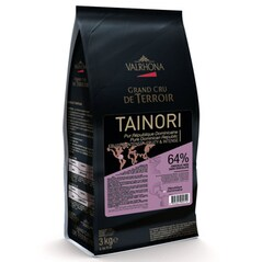 """Ciocolata Couverture Neagra Tainori """"Grand Cru"""", callets, 64% Cacao din Republica Dominicana, 3 Kg - VALRHONA"""