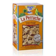 Zahar Brut din Trestie de Zahar, Brun, Cuburi Neregulate, 750 g - La Perruche, Franta