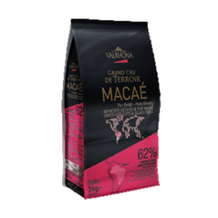"""Ciocolata Couverture Neagra Macae """"Grand Cru"""", callets, 62% Cacao, Brazilia, 3 Kg - VALRHONA"""