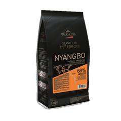 "Ciocolata Couverture Neagra Nyangbo ""Grand Cru"", callets, 68% Cacao din Ghana, 3 Kg - VALRHONA"