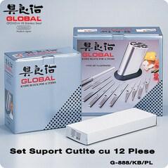 Set Suport Cutite cu 12 Piese - Global