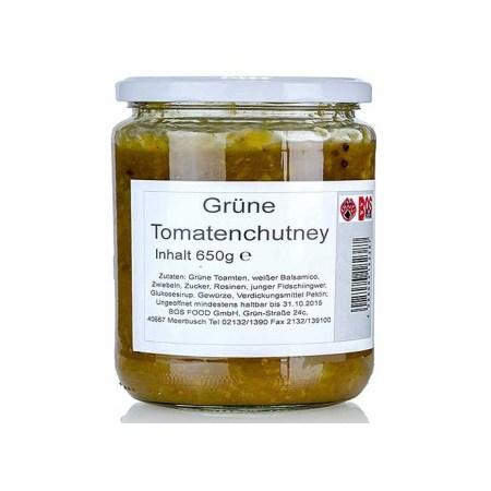 Chutney de Tomate Verzi, cu Balsamico Alb, 650 g - Bos Food