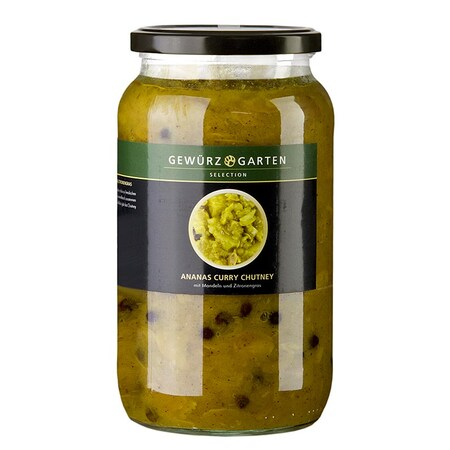 Chutney de Ananas si Curry, cu Migdale, Soc si Lemongrass, 900ml - Gewürzgarten