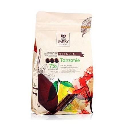 Ciocolata Couverture Neagra, Tanzanie Origine, callets, 75% Cacao, 1 Kg - CACAO BARRY