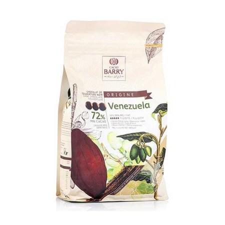 Ciocolata Couverture Neagra, Venezuela Origine, callets, 72% Cacao, 1 Kg - CACAO BARRY