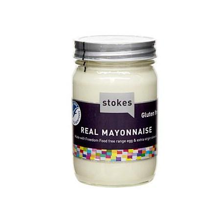 Real Mayonnaise cu Ulei de Masline Extravirgin, fara gluten, 345 g - Stokes