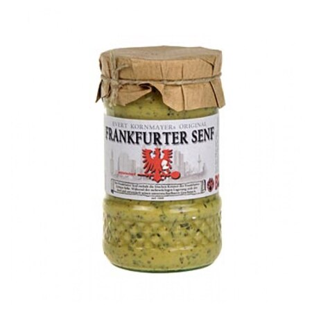 Mustar de Frankfurt, Frankfurter Senf, mediu-iute, cu Ierburi Aromate, 210 g - Kornmayer, Germania