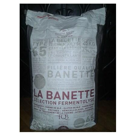 Faina de Grau, Tip 65, pentru Panificatie, Banette, 25 Kg - Moulins Joseph Nicot, Franta