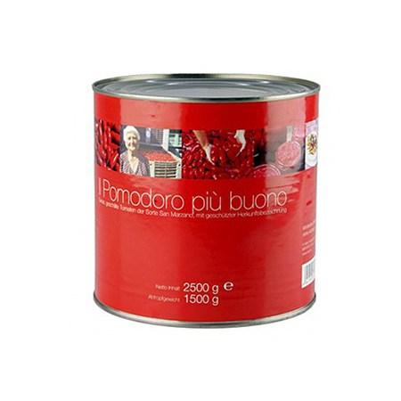 Tomate San Marzano, Intregi, Rosii, Decojite, din Campania/Italia, 2,5 Kg - Viani