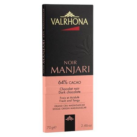 Ciocolata Neagra 64% Cacao, Madagascar, 70 g - Manjari Les Grand Crus - VALRHONA