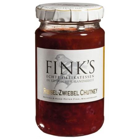 Chutney de Coacaze Rosii si Ceapa, 220 g - Fink's