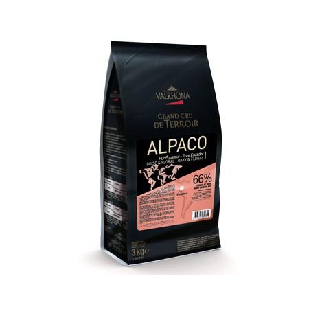 "Ciocolata Couverture Neagra Alpaco ""Grand Cru"", callets, 66% Cacao din Ecuador, 3 Kg - VALRHONA"