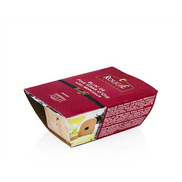 Bloc de Foie Gras de Gasca, cu Bucati si 3% Trufe, Trapez, 180g - Rougié