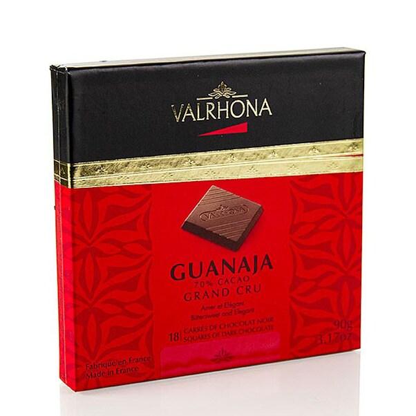 Ciocolata Neagra 70% Cacao, Carré, Guanaja, 18 x 5g, 90g - VALRHONA